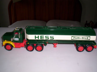 1984 hess fuel oil tanker truck value