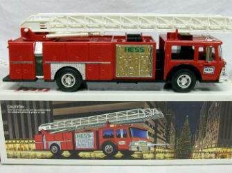 1986 Hess fire truck bank with white ladder value