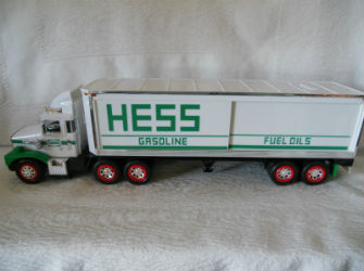 1987 Hess18 wheeler bank truck value