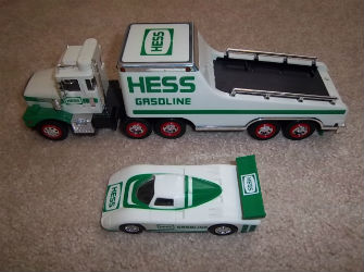 1987 Hess toy truck and racer value