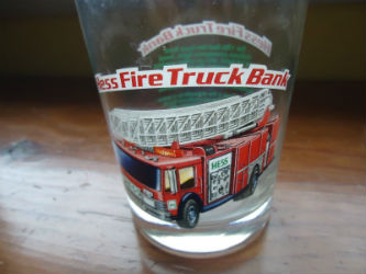 Hess Fire Truck Bank Glass