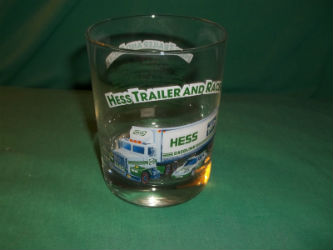 1996 Hess Trailer and Racer Glass
