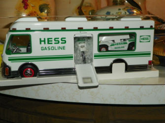 1998 Hess recreation van with dune buggy and motorcycle value