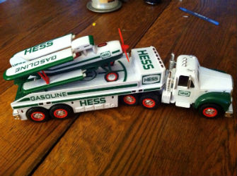 2002 Hess toy truck and airplane value
