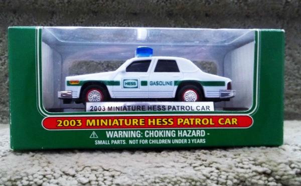 2003 Miniature Hess Patrol Car for sale