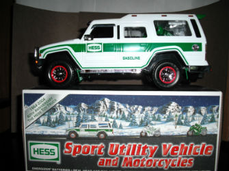 2004 Hess sport utility vehicle and motorcycles value
