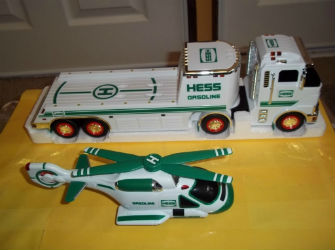 2006 Hess toy truck and helicopter value
