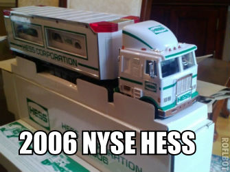 Hard to find 2006 NYSE Hess truck