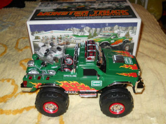2007 Hess monster truck and motorcycles value