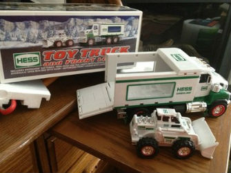2008 Hess toy truck and front end loader value