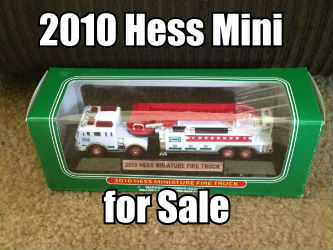 2010 Miniature Hess Fire Truck