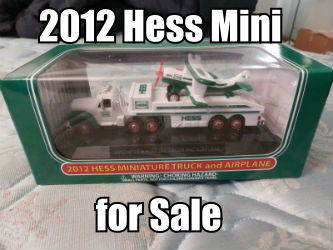 2012 Miniature Hess Toy Truck and Airplane