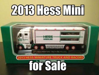 2013 Hess Mini 18-Wheeler and Race cars