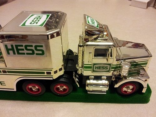 HESS* 1995* CHROME* TRUCK* AND HELICOPTER* RARE*