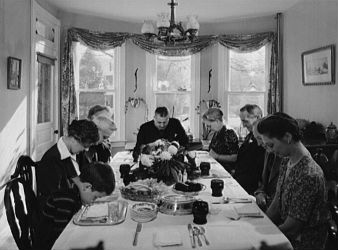 Thanksgiving American Tradition circa 1942
