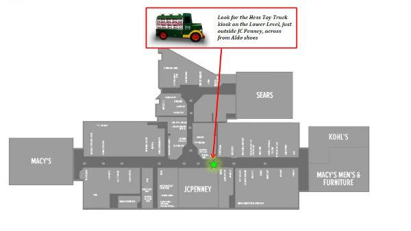 Hess Toy Truck kiosk Green Acres Mall