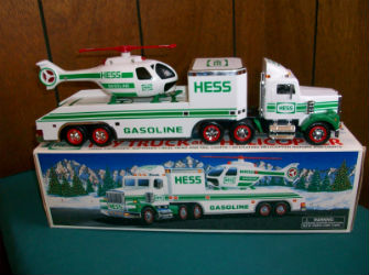 1995 Hess toy truck and helicopter value