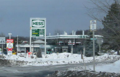 A Hess Station in Rensselaer County New York