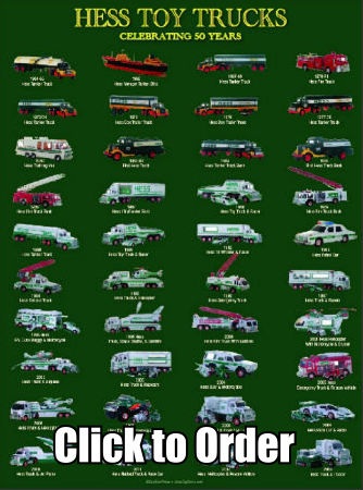 On sale Hess Toy Truck 50th Anniversary Poster