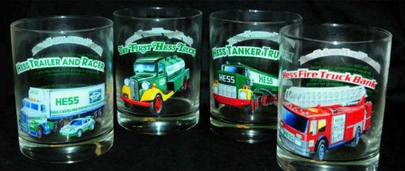 Hess truck drinking glasses gift box set